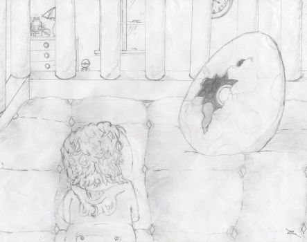 The baby and the egg by Naric