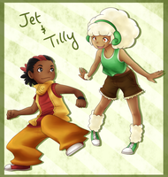 Jet and Tilly by Cashewdee