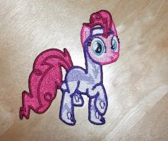 Pinkie Pie as Fili-Second embroidered Patch by EthePony