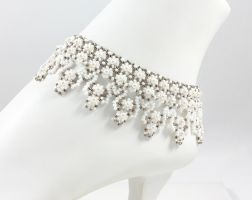 Bridal Anklet by BeadfulStrings