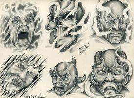 Tattoo Flash By Tattoo-Man by TattooMan21