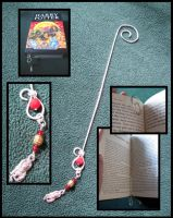 Silver Gryffindor Bookmark by WireMySoul