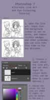 PS 7 lineart and eye tutorial by Asparagusunited