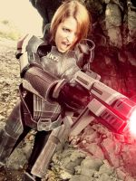 Female Shepard Cosplay by FriscoBlondi