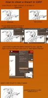 HOW TO CLEAN A LINEART IN GIMP by the-blackat