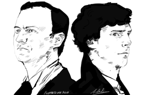 Mycroft + Sherlock by superfizz