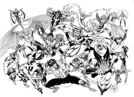 X-Men Wraparound by PinoRinaldi
