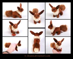 SOLD Plushie: Eevee Beanie (Pokemon) by Avanii