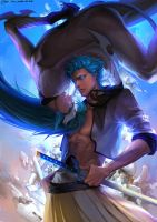 Grimmjow Jeagerjaques by ultramarineandwhite