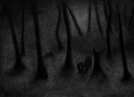 The Trees Bore Their Withered Silhouettes by YoMilbert