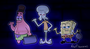 Hitchhiking Ghosts in Bikini Bottom by mark33776