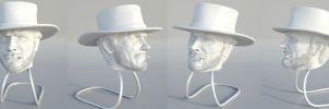 Clint Eastwood - 1:6 Figure Project Headsculpt by FoxHound1984