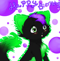 Happy B-day! by CloverPawIsHere