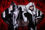Catwoman and Black Cat Commission by AshleighPopplewell