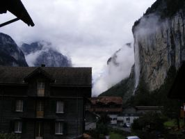 Morning in Lauterbrunnen by Sadguardian
