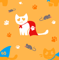 FREE TO USE superhero cat tile background! by stridays