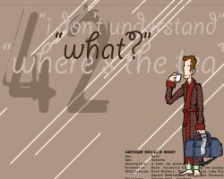 Arthur Dent Wallpaper by feedmyleg