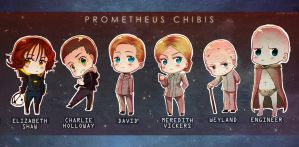 Prometheus Chibis by Pacbee