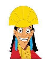 Kuzco cartoon by supernerdcait