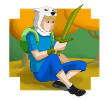 Finn and the blade of grass by Snowflake-owl