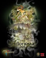 part of indonesia, borobudur by sunjaya