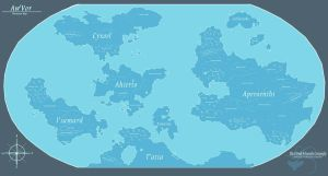 Aw'Vor - Planetary Map by Ulario