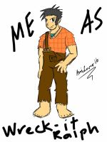 Me As Wreck-it Ralph by AniLover16