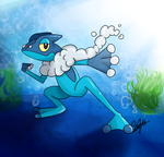 Frogadier by Draareg