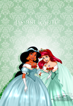 Vintage Christmas - Jasmine and Ariel by selinmarsou