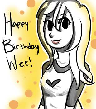 Happy birthday Wee! by pandacreation