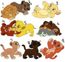 Lion Cub Adoptables 7 ALL ADOPTED by CandyNtheSweetettez