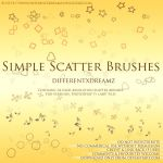 Simple Scatter Brushes by differentxdreamz