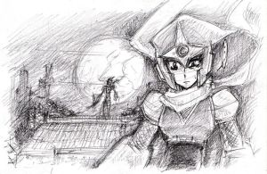 Sketch : Ninja by whitmoon