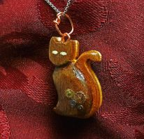 Clockwork Calico Pendant by Fandragon