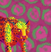 Jaguar In Bright Colours by femalefred