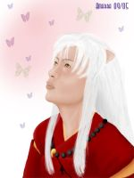 Inuyasha and the butterfly by Amarra