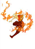 A:TLA Fire kick by roo-111