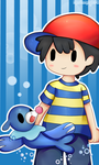 Ness and Popplio by Mariamagic59