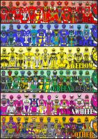 SUPER SENTAI FULL TEAM part 2 by thunderyo