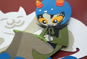 Nepeta Papercraft by koreandrawer
