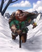 Dwarf in the snow by karaat