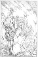 red sonja pencil by fabiojansen