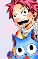 Fairy Tail - Natsu and Happy by LaariTonks