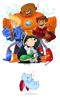 Bravest Warriors by Zamiiz