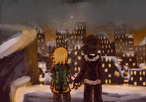 Snowy City by AkariMMS