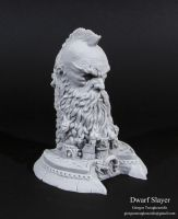 Dwarf Slayer bust my work 2014 by giolord11