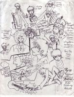 Pete Townshend: Sketches 1 by TomoeCosmo