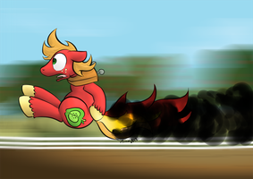 Big Mac on fire by DarkHestur