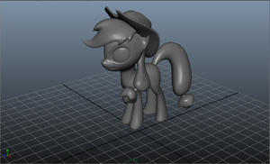 AJ 3D Maya model by SkittlesThePony1