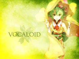 Gumi Vocaloid Wallpaper by EclairDesigns